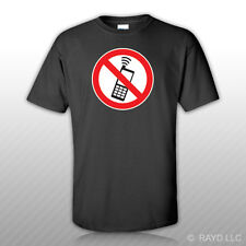 No Cell Phone Zone T-Shirt Tee Shirt Free Sticker mobile type b