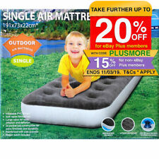 193x73cm Single Inflatable Camping Air Mattress Bed Outdoor mat/soft Flocked top