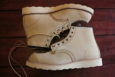 """RED WING 6"""" 8173 Sand Suede Moc Toe White Wedge 7.5E 9D 9E 9.5E 9.5D NEW"""