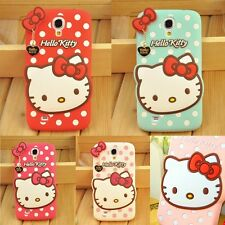 New 3D Cute Hello Kitty Series Soft Silicone Case Cover For Samsung Galaxy Model