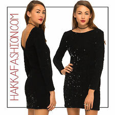 Motel Rocks Sleeved Gabby Felt Sequin Bodycon Mini Dress Chistmas Partywear LBD