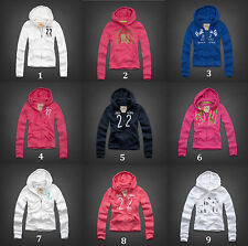New Hollister (by Abercrombie) XS, S, M, L Women's Hoodie Jumper Navy Pink White
