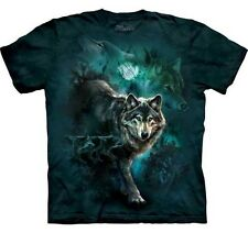 New NIGHT WOLVES COLLAGE Wolf Animal T-Shirt S-3XL The Mountain Official Tee