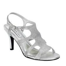 Sexy Metallic Silver Glitter Prom Formal Holiday Party High Heel Sandal Shoe
