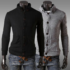 NEW TOP FASHION Men Slim Fit Button Placket Knitting Jackets Coats Outwear Tops
