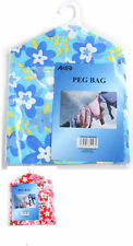 PINK AND BLUE LAUNDRY PEG BAG HOME ESSENTIAL 24X30CM