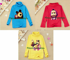Children/Kids Polo Neck Masha and the Bear Top