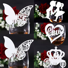 6 Styles Wedding Name Cards Table Number Place Cards Ivory Heart Butterfly MrMrs
