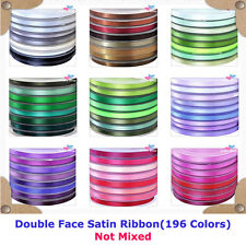 196 Colors Solid Colors Double Face Satin Ribbon for Hair,Craft,Wedding Supplies