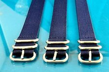 HEFTY ZULU 3 RING MILITARY STYLE OLD NAVY WATCH STRAPS / BANDS