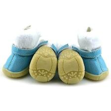 Puppy Dogs Winter Warm Fur Booties Pet Bling Dots Anti-slip Snow Boots Shoes D14