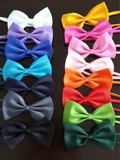 New Pet Dog Puppy Solid Adjustable Apparel Clothing Knot Bow Tie Ties Wedding