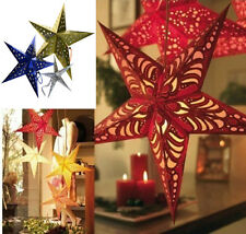 Stylist New Pentagram Lampshade Star Paper Lantern Hanging Wedding Xmas Decor