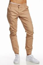 Mens Twill Joggers Solid Skinny fit urban basic Jogger pants Heft FREE SHIPPING