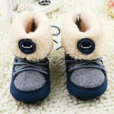 Toddler Infant Baby Boys Snow Boots Lace Up Shoes Newborn to 18 Months Navy D53