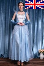 UK Seller FZ06 Frozen Princess Snow Queen Elsa Cosplay Costume Party Fancy Dress