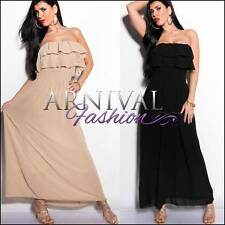 NEW BOOB TUBE MAXI DRESS 6 8 10 12 14 LONG SUMMER DRESSES XS S M L XL sundress