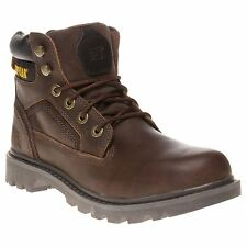 New Mens Caterpillar Tan Brown Stickshift Leather Boots Work Lace Up DLS