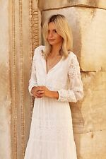 NEW ZARA 2014 ECRU LONG MAXI EMBROIDERED LACE DRESS ALL SIZES
