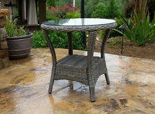 NEW Tortuga Outdoor Wicker Patio Furniture Bayview Collection Side Table