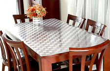"""72""""X54"""" Rectangle Clear PVC Table Cloth Table Cover For Kitchen 072"""