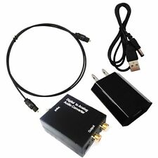 Digital Coaxial Toslink to Analog Audio Adapter RCA Converter US EU UK AU Plug