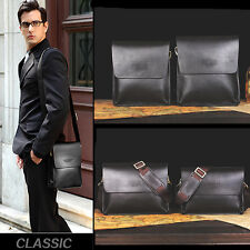 Men's Genuine Leather Cross Body Messenger Shoulder Business Bags Bag Briefcase