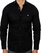 Lacoste Men's City Slim Stretch Woven Shirt CH3230-51 031 Black NWT Authentic