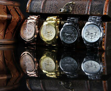 Fashion Original Men's Woman Girls Stainless steel Luxury Classical Dial watch