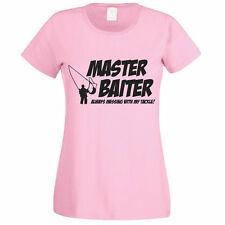 MASTER BAITER ALWAYS MESSING WITH MY TACKLE - Funny / Fish Themed Womens T-Shirt