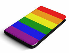 LGBT Flag Lesbian Gay Mobile Phone PU Leather Flip Cover Case For iPhone