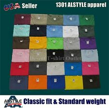 1 New Mens Casual AAA T-SHIRT ALSTYLE APPAREL 1301 Plain Blank Crewneck Top S-5X