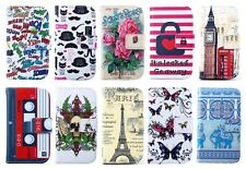 Colorful PU Leather Stand Credit Card Flip Wallet Pouch Case f Vary Mobile Phone