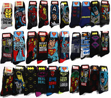 Marvel Comics Iron man Avengers Captain America Mens Crew Socks 6-12 2pairs