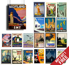 A3 VINTAGE RETRO TRAVEL & RAILWAYS Posters Old Style Home Art Print / Wall Decor