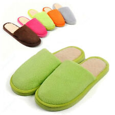Warm Winter Womens Mens Soft Lovers Anti Slippers Indoor House Solid Color
