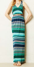 The Addison Story Juxtapose Maxi Dress Size Large Green MOT NW ANTHROPOLOGIE Tag