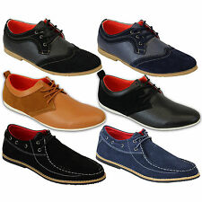 mens Marc Darcy shoes leather suede brogue smart formal wedding lace up casual