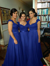 New Chiffon Long Formal Gown Ball Cocktail Evening Prom Party Bridesmaid Dress