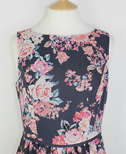 ex George Asda  Ladies Dress Soft Chiffon All Over Printed Side Zip, Lined.