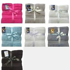 100% Egyptian Cotton 3 Pack Jumbo Bath Sheets - 90 x 150cm **Special Offer**