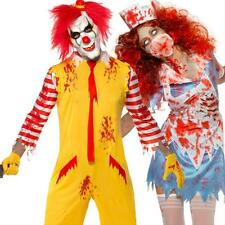 New Scary Evil Halloween Horror Fancy Dress Sexy Zombie & Clown Costumes Outfits