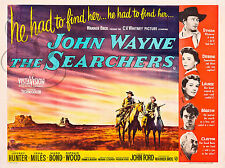 REPRO DECO CINE JOHN WAYNE THE SEARCHERS 1956 COW BOY SUR PANNEAU MURAL BOIS HDF