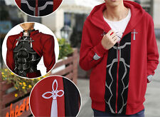 NEW! Fate Stay Night Archer Cosplay Red Sweater Hoodie Free Shipping