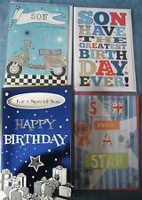 SON BIRTHDAY CARD - Choice of 4 - Excellent Quality Cards