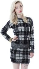 Motel Buttercup Tartan Knit Jumper Sweater Clueless Monchrome Knitwear Coords