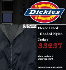 DICKIES JACKETS 33237 FLEECE LINED HOODED NYLON JACKETS Black and Navy
