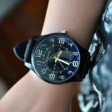 Fashion Big Dial Unisex Lovers Watch Digital Quartz Analog Silicone Wristwatch