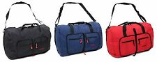 Members Light Weight Cabin Size Hand Luggage Foldaway Travel Bag Duffle Holdall