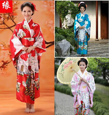 Charming Traditional Japanese kimono Fashion  Uchikake Bathrobe Hiyoku With Belt